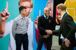 Prince Harry visits the THT pop-up in Hackney for HIV Testing Week