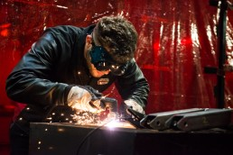 photographing welding
