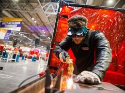 photographing welding