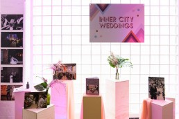 inner city weddings display at the indie wedding fair