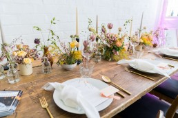sample dressed table from Inner City Weddings