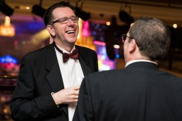 man in tuxedo laughing at the CN Specialists Awards 2019