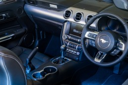 car photography - interior of a mustang