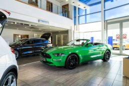 bright green ford mustang