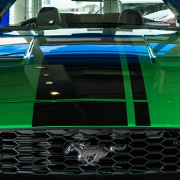 green ford mustang car photography