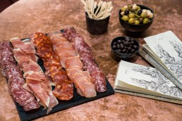 cured meats and nibbles