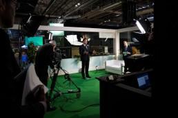 TV Set holding an interview