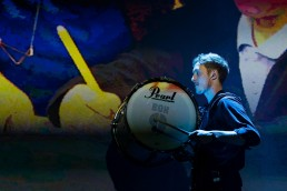 drumming and projection