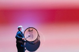 drummer with projection