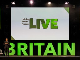 Large scale corporate event photography - Helping Britain Prosper Live