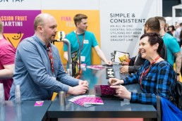 people sampling the new cocktails on draught from Funkin