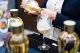 corporate brand giveaways - St Germain alcohol sampling