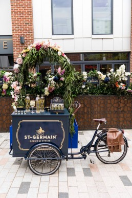 corporate brand giveaways - St Germain alcohol sampling bike