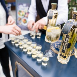 corporate brand giveaways - St Germain alcohol sampling