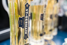 alcohol sampling in Stratford - St Germain bottles