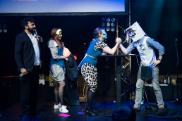 We Love TV Quiz - fancy dress round Great British Glowing Bee