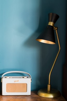lamp and a radio