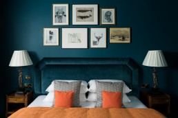 interior photographer london - blue bedroom