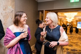 corporate event photographer london - smiling guests at the Ground Engineering Awards 2019