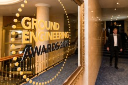 ground engineering awards vinyl sign