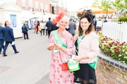 volunteers collecting money at York Races macmillan race day