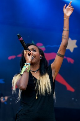 angel haze performs at Glastonbury 2014