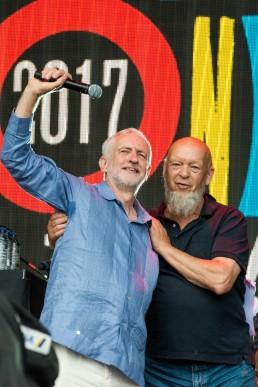Jeremy Corbyn and Michael Eavis Glastonbury 2017