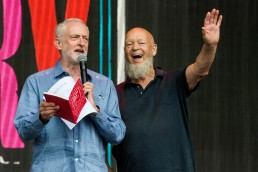 Jeremy Corbyn and Michael Eavis Glastonbury 2017